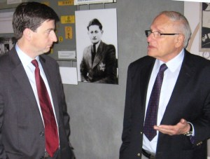 Shadow Foreign Secretary Douglas Alexander at the Yad Vashem Holocaust memorial museum